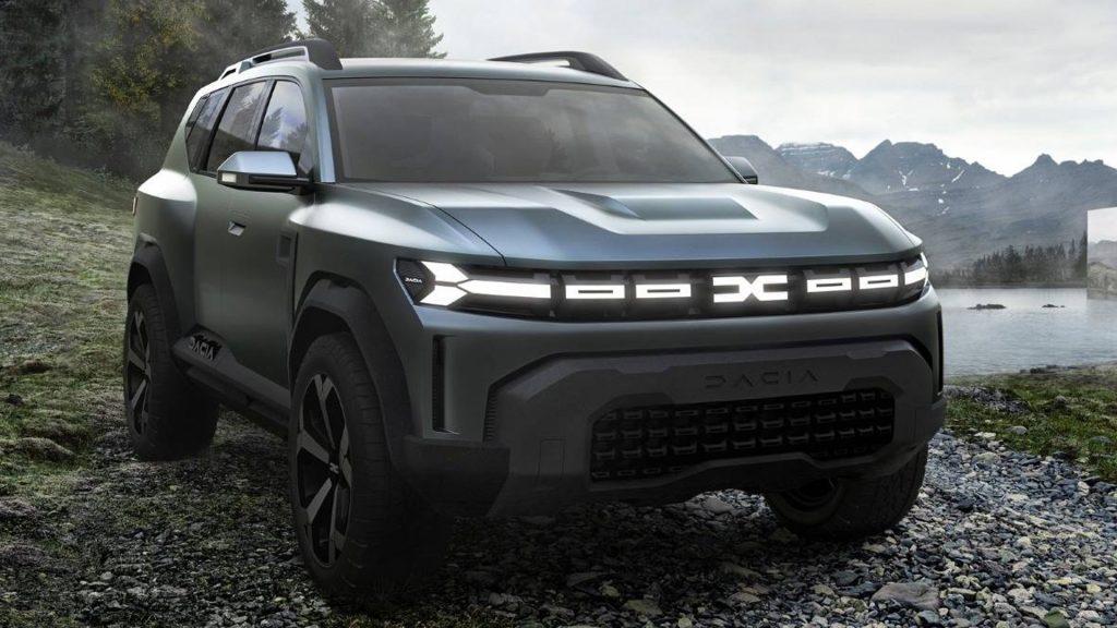 Coche Dacia Frontal iluminado 2021