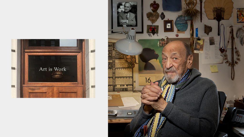 Milton Glaser, diseñador en su estudio de Nueva York
