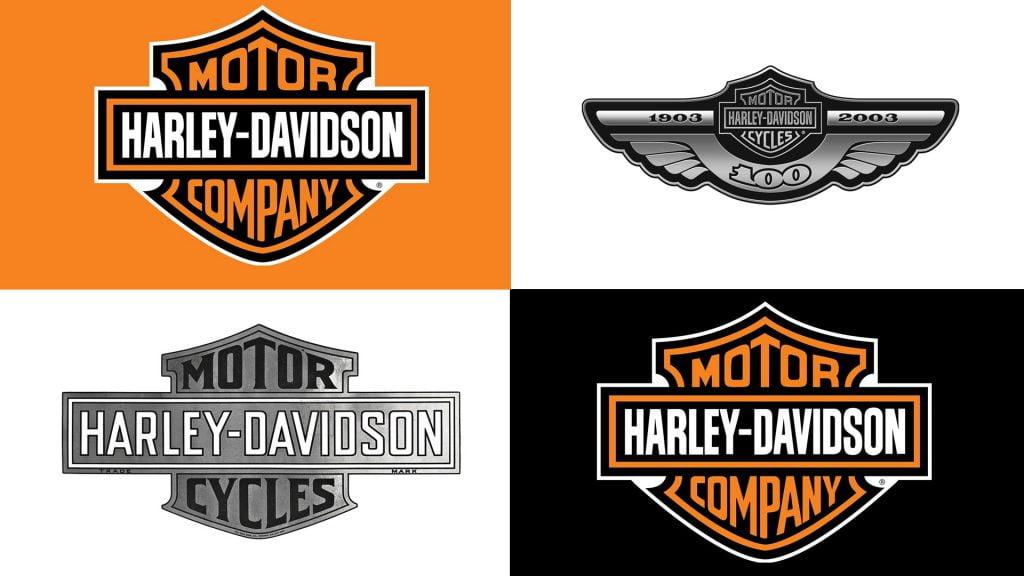 Evolución logo de Harley