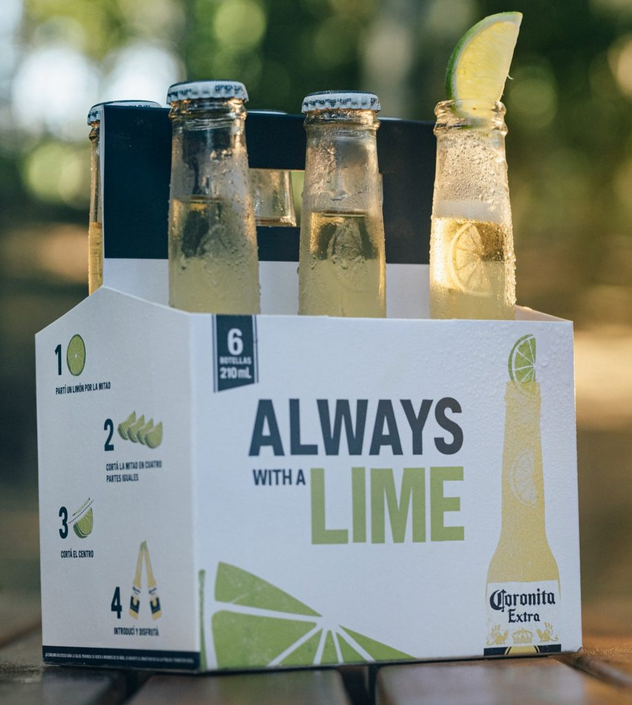 always with a lime envase