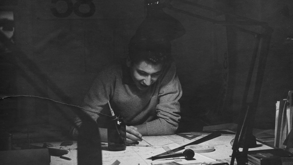 Yves Zimmermann trabajando de joven